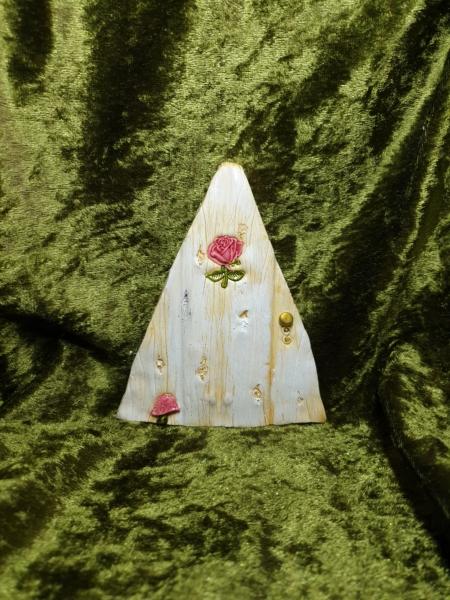 Feentür mit Pilz und Rose
