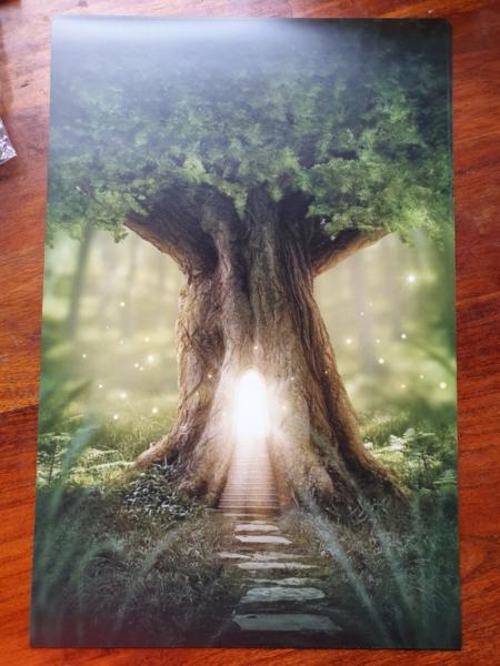 Poster magischer Baum